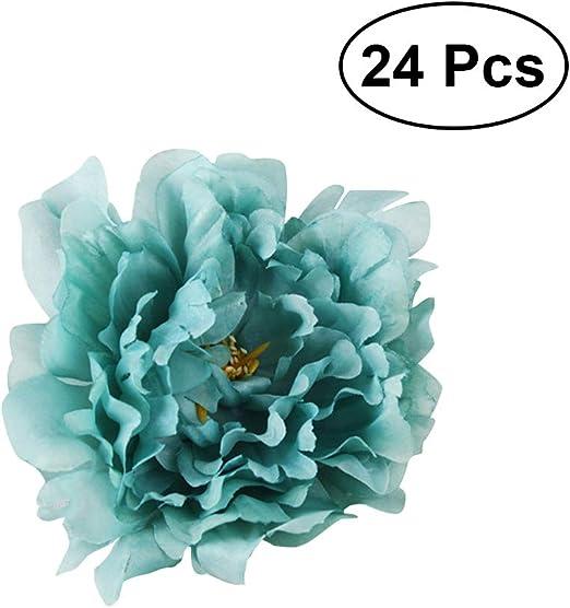 Plants Flowers Blue Peony Artificial Flower Head