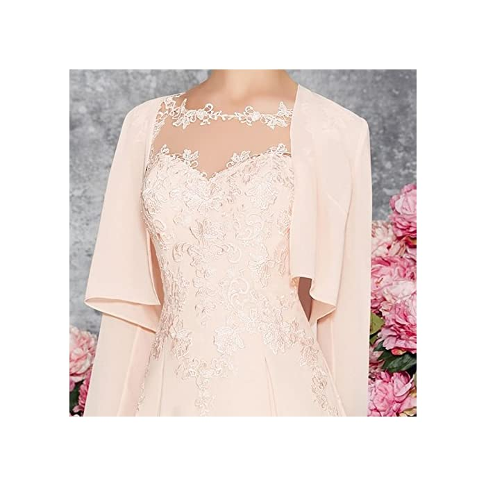 LANSITINA Plus Size Mother of The Bride Dresses Tea Length Mother of The  Groom Dresses for Wedding with Jackets (Pearl Pink,12)