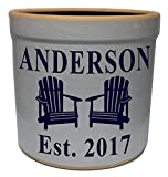 2 Gallon Personalized Stoneware Crock – Adirondack