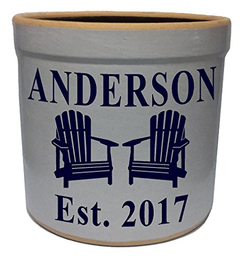 2 Gallon Personalized Stoneware Crock - Adirondack