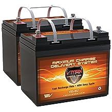 QTY2 VMAX857 AGM Deep Cycle Group U1 Battery Replacement for Dalton Medical ePower PC1000 Pediatric 12V 35Ah Wheelchair Battery