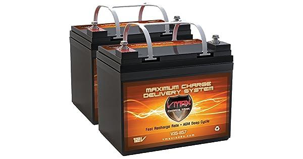 Amazon.com: Qty2 vmax857 AGM Batería de repuesto para Ciclo ...