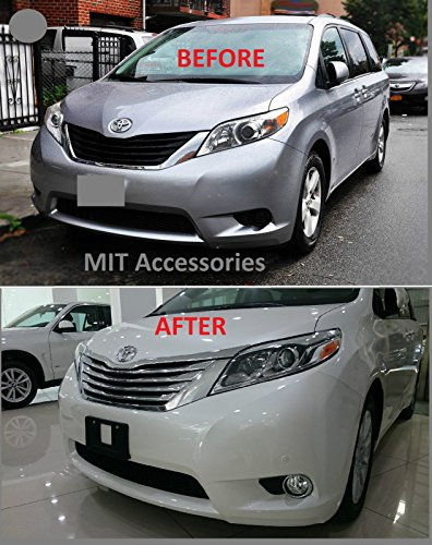 - MIT for TOYOTA SIENNA 3rd Gen Front grill chrome cover trim garnish ABS 5pcs