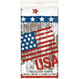Vintage American Flag Plastic Tablecloth