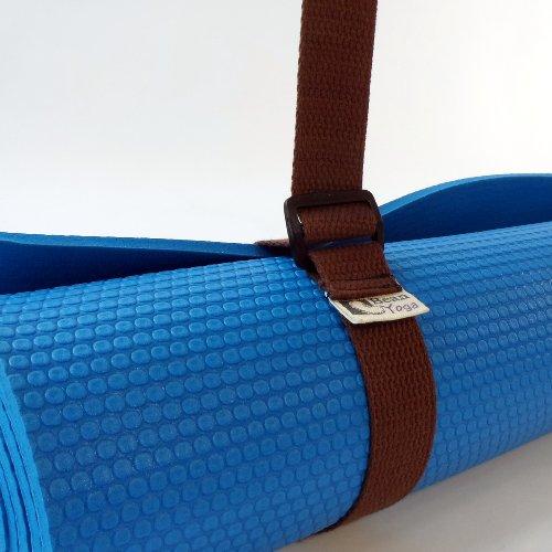 Bean Yoga Mat Sling Harness Extra Long Cotton - Brown