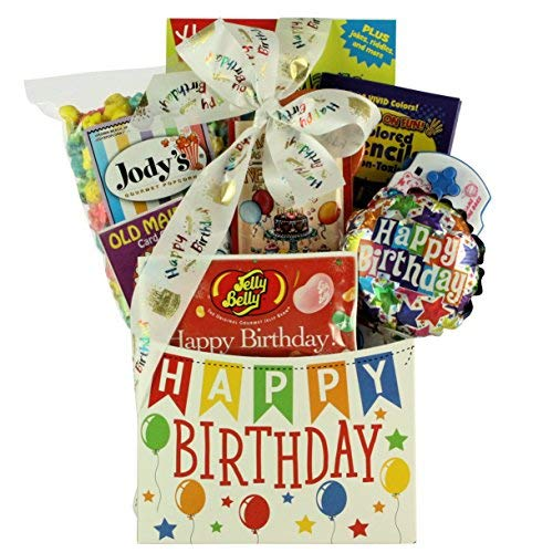 GreatArrivals Kid's Birthday Gift Basket Happy Birthday Wishes 3 Pound [並行輸入品] B07N4LKD6N
