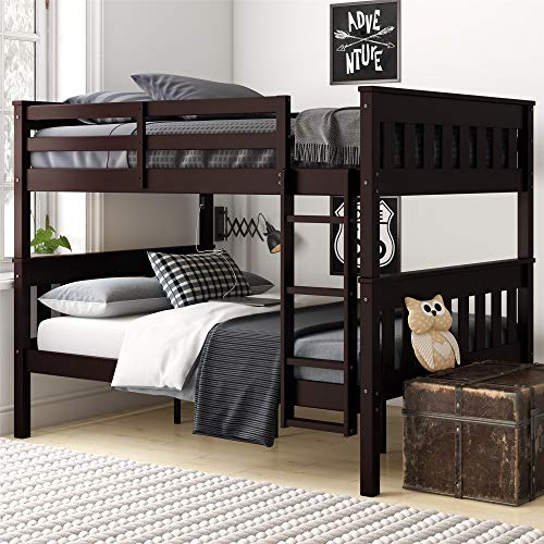 - Dorel Living Moon Full Over Full Bunk Bed with USB Port, Espresso