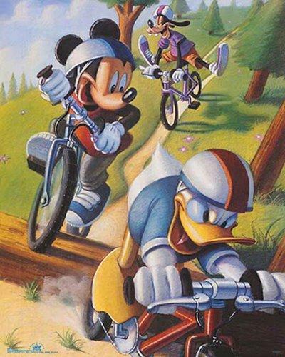 Bruce Teleky Walt Disney Mickey & Friends: Biking. Children's Print Poster (16 x 20) from Bruce Teleky