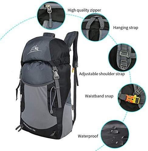 Yapin 36L-55L Lightweight Packable Backpack Ultra Lightweight Foldable Backpack Waterproof Casual Daypacks Small Hiking Daypack for Men Women Travel Camping Cycling Climbing Outdoor Sports