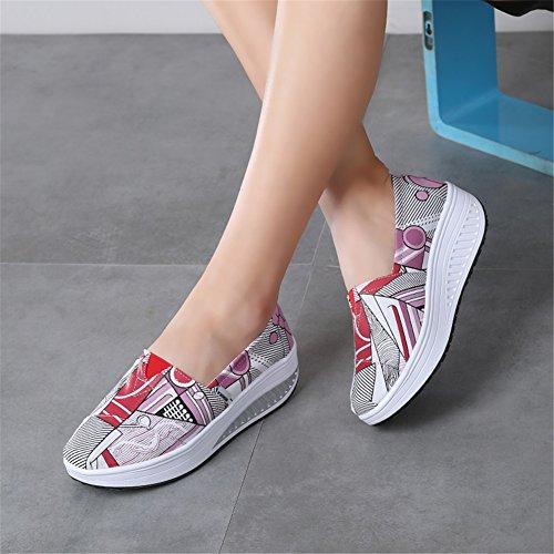 per Comfort di Scarpe casual Aumenta Slip Fondo ginnastica Scarpe UN Altezza Scarpe da tela On spesso Canvas passeggio donna da SHINIK esterno Shake da Scarpe da donna Scarpe TSzvOOq