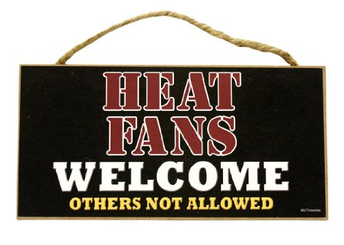 Miami Heat Fans Welcome Wood Sign