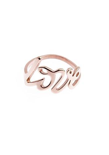 Happiness Boutique Damen Love Ring in Rosegold | Statement Ring aus Titan mit Rosegold Überzogen