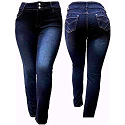 IVE BLACK WOMEN'S PLUS SIZE Stretch HIGH WAIST denim jeans PANTS SKINNY LEG (16)