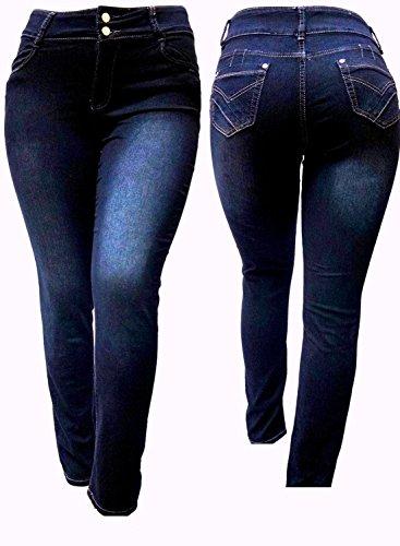 Ive Black Women's Plus Size Stretch High Waist Denim Jeans Pants Skinny Leg (20) (Stretch Jeans Plus)