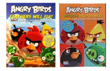 Angry Birds Coloring Activity Book 2 Pack Feathers Will Fly Mission