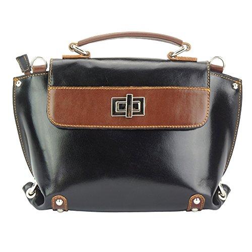 213 Brillante Bolso Tipo marron Cuero Tote Negro Con Kensington qxSYXZwSO