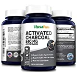 Activated Charcoal 840 mg- 200 Veggie Capsules