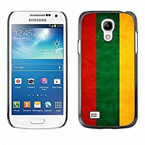 Shell-Star ( National Flag Series-Lithuania ) Snap On Hard Protective Case For Samsung Galaxy S4 MINI / i9190 / i9192