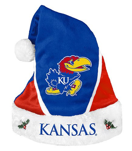 Kansas Jayhawks Santa Hat - Colorblock 2014 - Licensed NCAA College Gift