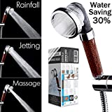 Filtered Hand Held Shower Head Filtration System Help Reduces hair loss. Rainfall Spa Water Saving, Negative Ionic Ion Flow Filter Handheld Shower head. Purifies Water, Remove Chlorine