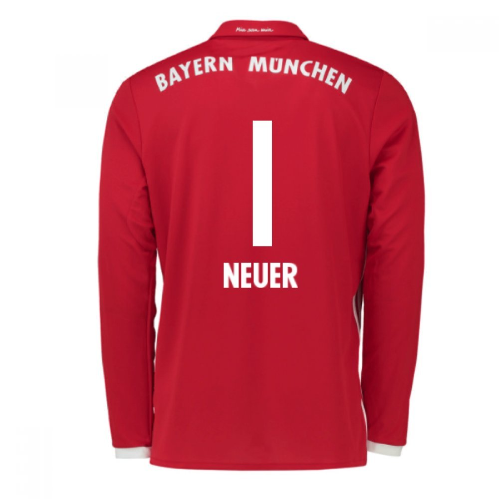 2016-17 Bayern Munich Long Sleeve Home Shirt (Neuer 1) B077Z5LS21Red Small 36-38\