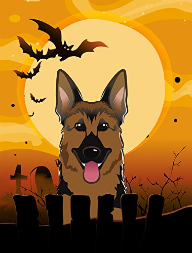 Caroline's Treasures BB1769CHF Halloween German Shepherd Canvas House Size Flag, Multicolor, Large Review