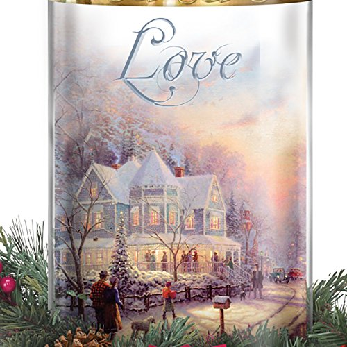 Thomas Kinkade Holiday Artwork Lighted Centerpiece with Flameless Candles by The Bradford Exchange by Bradford Exchange (Image #3)
