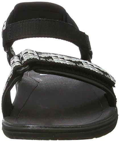 Teva Terra-Float Nova y's, Sandalias de Senderismo para Niñas Negro (Palopo Black)
