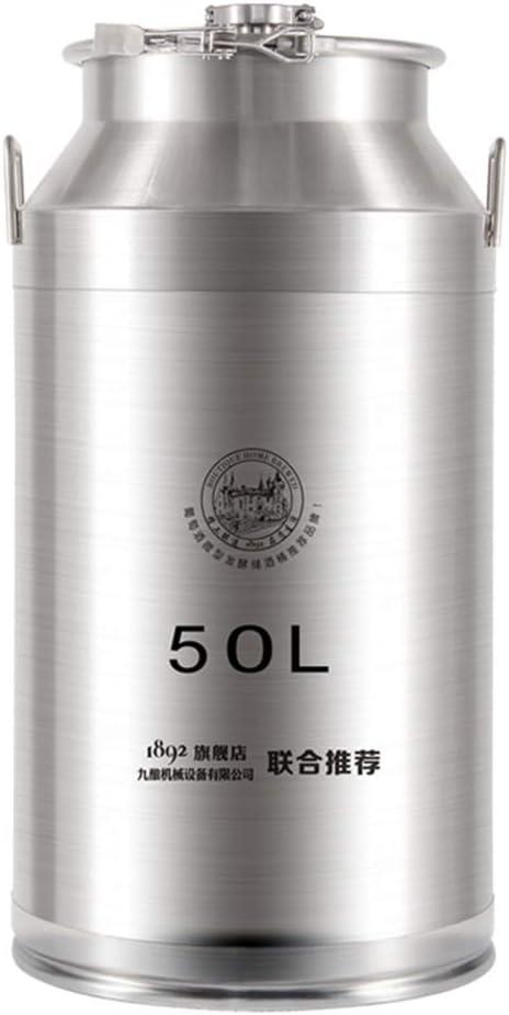 Color : Silver, Size : 35 * 68cm Stainless Steel Wine Barrel Winemaking Store Wine Fermenter Metal Stainless Steel Sealed Barrel TINGTING Whiskey barrel