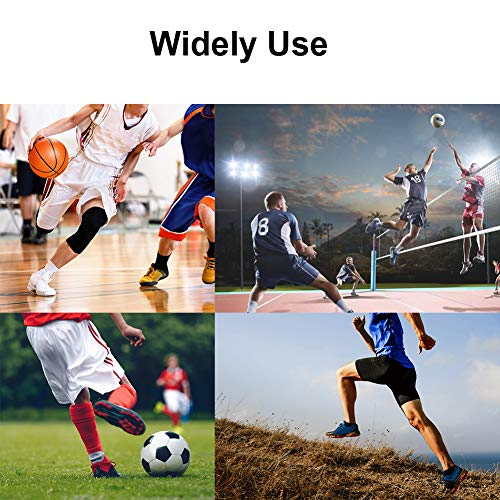 AITREASURE Knee Support Brace Breathable Compression Leg Sleeves with Side Stabilizers + Silicone Patella Gel Pad for Sports (One Pair)