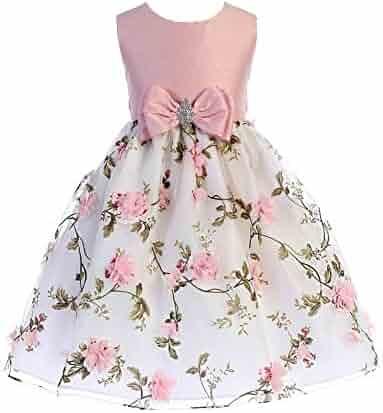 855c9be480fa seller: SophiasStyle. (2). Crayon Kids Little Girls Pink Floral Print  Easter Flower Girl Dress 2T-6
