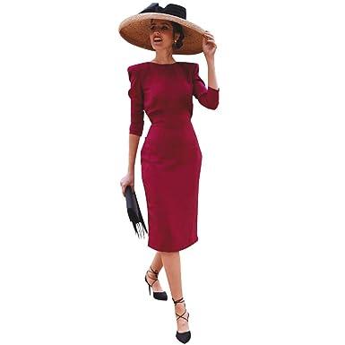 Vestido Fiesta Mujer Elegante Largo, Beladla Vintage Fiesta ...