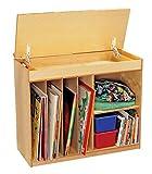 Childcraft 204151 Magnetic Dry Erase Language Center, Extra Wide, Birch Veneer, 4-Coat UV Acrylic, 36'' x 14-3/4'' x 32-9/16'', Natural Wood Tone