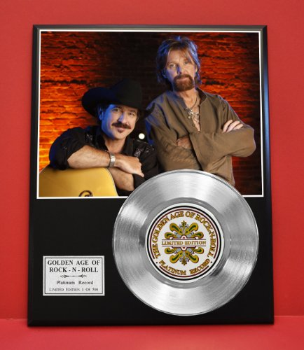 Brooks And Dunn Non Riaa LTD Edition Platinum Record Display - Award Quality Plaque - Country Music Memorabilia - from Gold Record Outlet