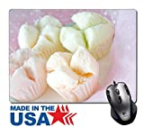 """MSD Natural Rubber Mouse Pad/Mat with Stitched Edges 9.8"""" x 7.9"""" IMAGE ID: 30944698 sweet steamed cupcake asian style"""