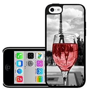 Wine Glass in Paris Hard Snap on Case (iPhone 5c)