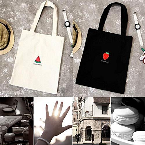 Impression Carrier Toile Main Shopping Preppy Tote Messenger Sacs Femmes Bag Simple Épaule Tout Série À Coton B Fourre Dames Shopping Capacité Grande Bulary Sacs Fruit Toile Style Femelle 5PWqFnRq7