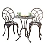Best Selling Charleston Aluminum Copper Bistro Set