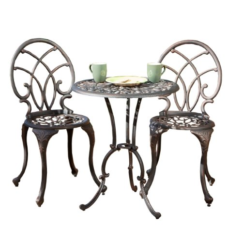 Best Selling Charleston Aluminum Copper Bistro Set by Best-selling