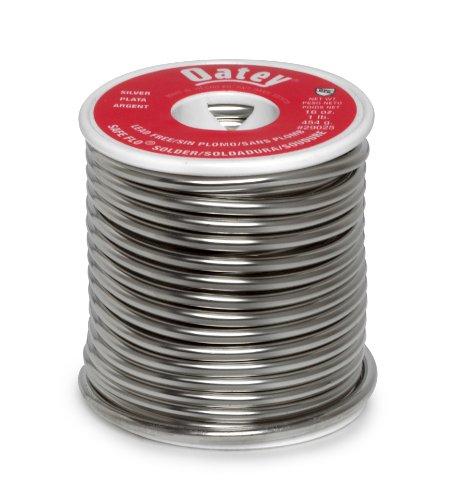 Oatey 29025 Safe-Flo Wire Solder, 1 Lb Bulk, Solid, Gray, Silver (Solder Free Lead Silver)