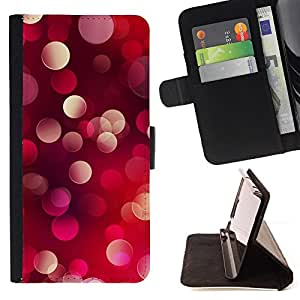 DEVIL CASE - FOR Sony Xperia Z2 D6502 - Bling Glitter Dots Light Red Purple Pink - Style PU Leather Case Wallet Flip Stand Flap Closure Cover