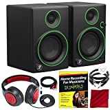 Mackie CR Series CR3 - 3'' Creative Reference Multimedia Monitor Pair Premium Bundle with Home Recording for Musicians for Dummies and Much More