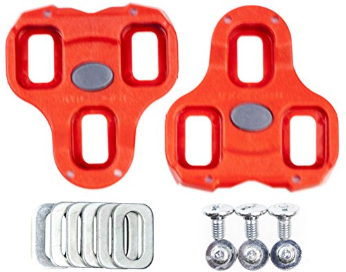 Look Keo Bi-Material Red Cleats 9 Degree Float with Hardware
