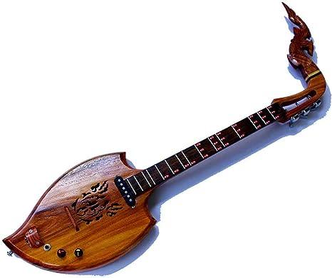 Isarn guitarra acústica eléctrica Phin 3 cuerdas, instrumento ...