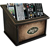 Fan Creations N0765-NYJ New York Jets Woodgrain Media Organizer, Multicolored