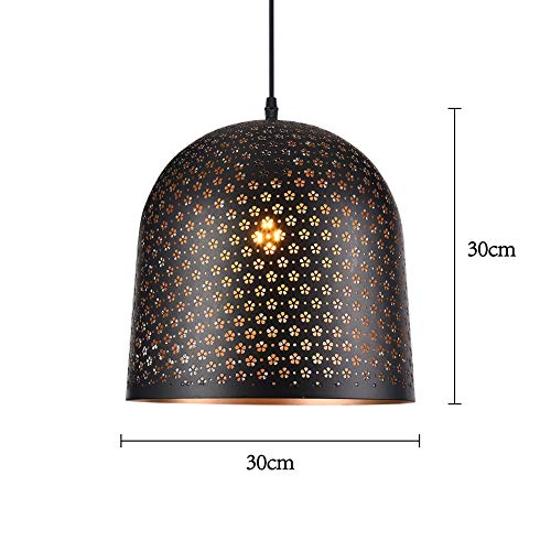 AOKARLIA Pierced Pendant Chandelier Ceiling Lamp with Metal Lampshade Modern Handmade Hanging Light for Living Room Restaurant Coffee Kitchen etc,I
