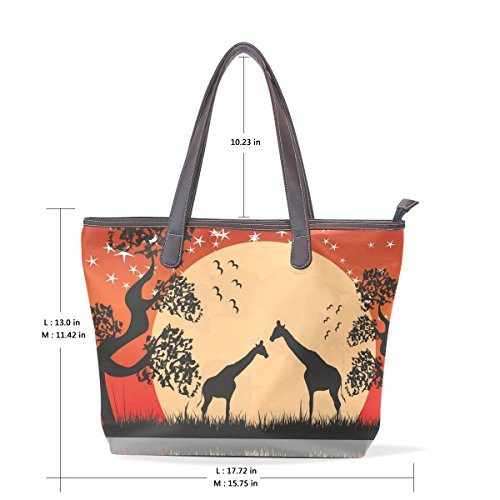 Landscape Bags Top Women Handbag Bennigiry Patern Giragge Ladies Shoulder Large Tote Handle xq1xOCgw8