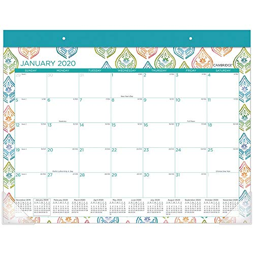 Cambridge 2020 Desk Calendar, Desk Pad, 21-3/4