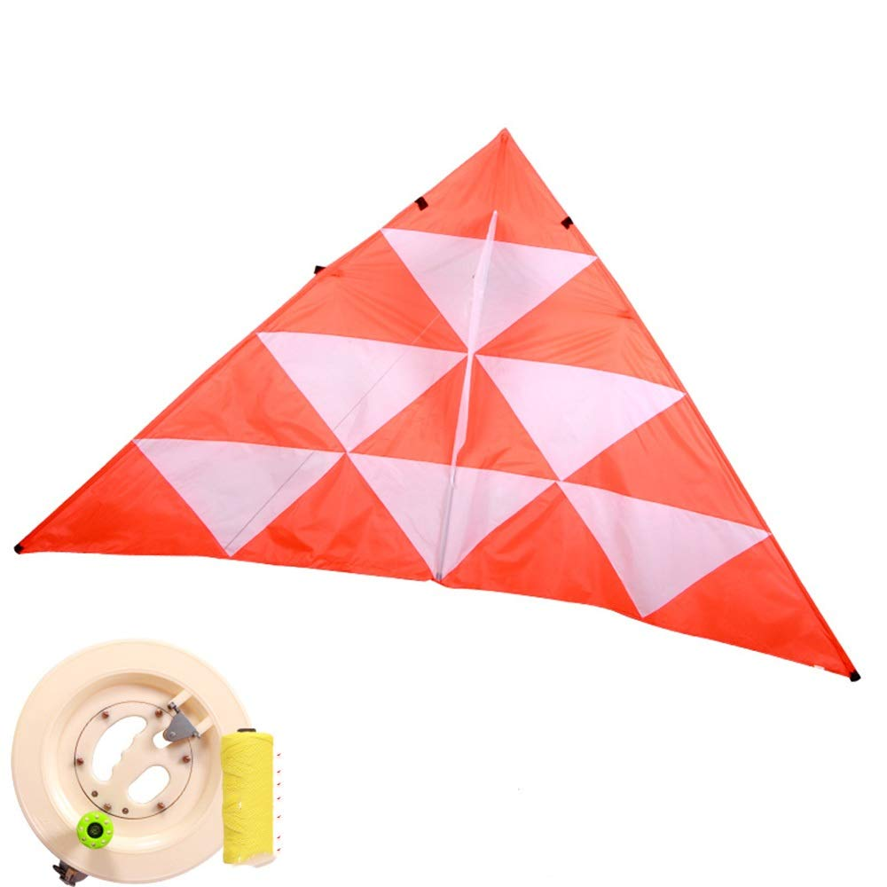 Kite,Flying Spring Toy Large Adult Kite, Breeze Easy to Fly, with Reel Kite line Wheel Puller Multi-Style Optional (Color : B) by Kite Products