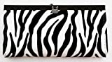 Stylish Japanese Compact Purse - Slim & Convenient Wallet (Zebra Pattern)